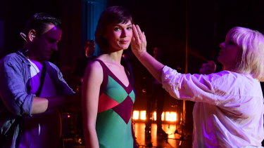 """Tilda Cobham-Hervey, as Helen Reddy, on the set of I Am Woman: """"It was women like her that changed so many things."""""""