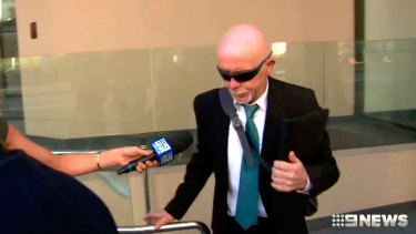 Graham Milne outside the inquest on Monday.