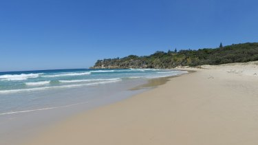 Frenchmans Beach at Point Lookout on North Stradbroke Island.