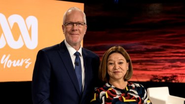 Former ABC chair Justin Milne and MD Michelle Guthrie, who fell out spectacularly over email.