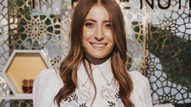 Melbourne-based model Bec Harding was in Town for the beauty event.