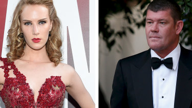 Actress Charlotte Kirk and billionaire James Packer.
