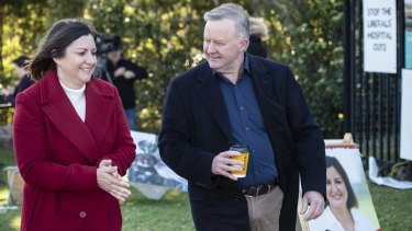 Not much shifted for Labor leader Anthony Albanese and Labor's candidate  for Eden-Monaro, Kristy McBain,
