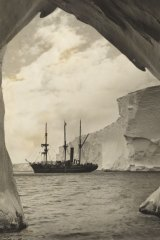 A glimpse, from within the cavern of the Mertz Glacier, Australasian Antarctic Expedition, 1911-1914