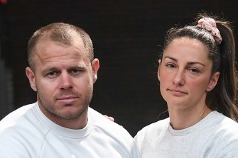 The owners of RBT Gyms, husband-and-wife Travis and Liv Jones.