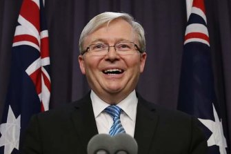 When deposed, Kevin Rudd manoeuvered to give members greater say in deciding Labor's leader.