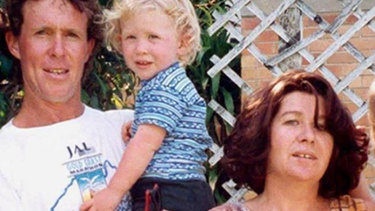 Brenton Tarrant as a child, with his mother Sharon and father Rodney, now deceased.