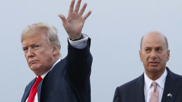 President Donald Trump with Gordon Sondland in 2018.