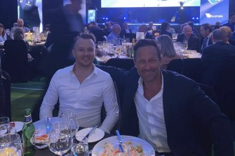 Mark Babbage and Hayden Burbank attended the grand final eve luncheon at Crown Perth.