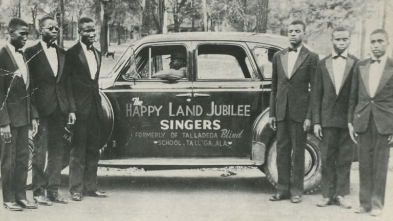 An archival photo of The Happy Land Jubilee Singers in <i>How They Got Over</i>.