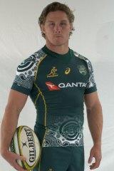 Michael Hooper in the Wallabies' Indigenous jersey.