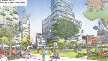 An artist's impression for one of the options of the redevelopment.
