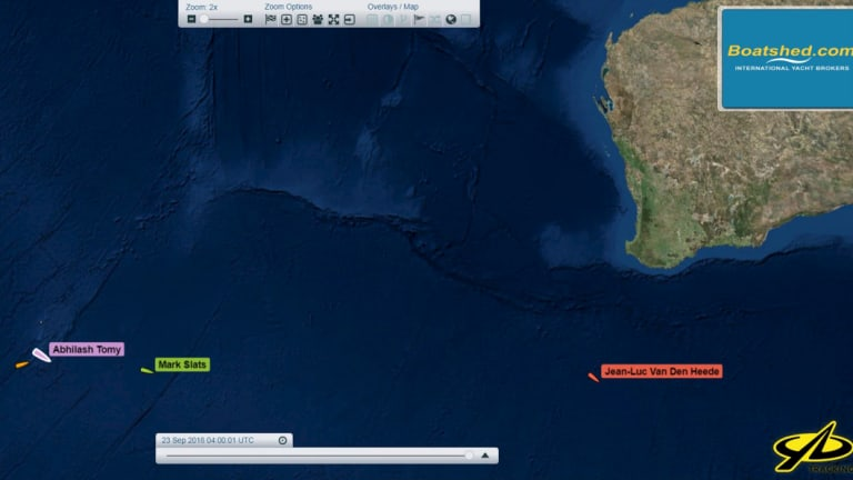The Golden Globe Race Livetracker shows the stranded sailor's remote location.