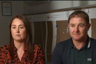 Danny Hodgson's parents Nicola and Peter.
