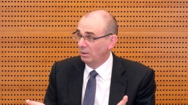 APRA chairman Wayne Byres giving evidence at the royal commission.