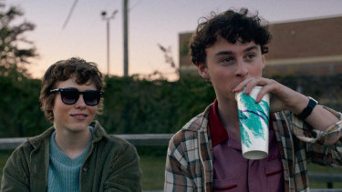 Sophia Lillis (left) as Sydney in I Am Not Okay with This.