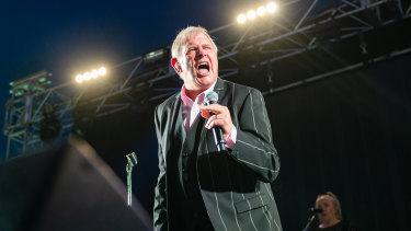 John Farnham performs at the Falls Festival in Lorne on Saturday night.