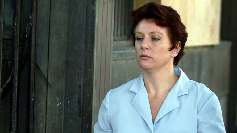 Kathleen Folbigg outside the NSW Supreme Court in May 2003 during her trial.