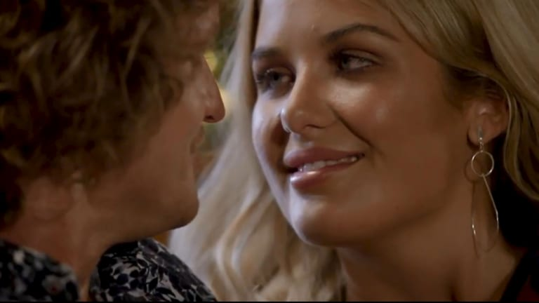Sophie got up close and personal with Bachelor Nick Cummins in Wednesday night's episode.