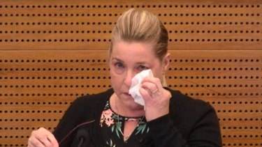 Jacqueline McDowall giving evidence