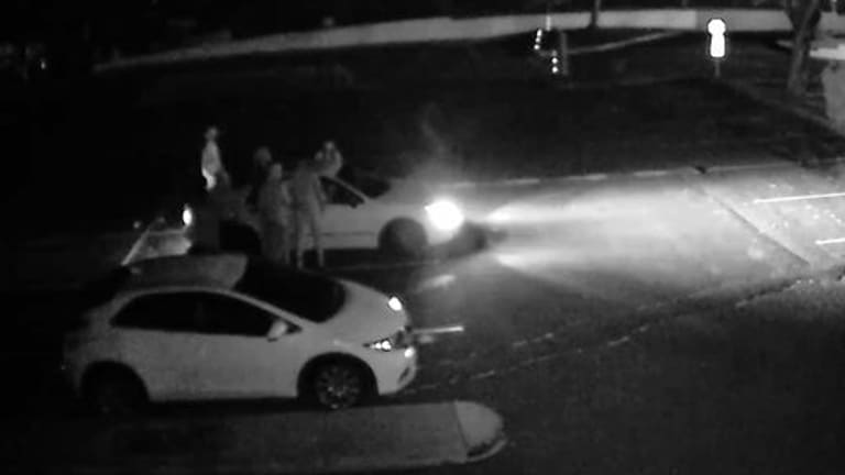 CCTV footage released by police appears to show a violent robbery in a Sunnybank shopping centre car park.
