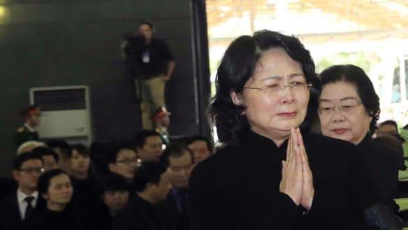 Mourners farewell Vietnam president