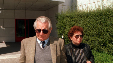 Vincenzo Leonardi leaves the Coroner's Court during hearings into the disappearance of Nenita Evans in 1995. He did not give evidence, citing his right to avoid self-incrimination.