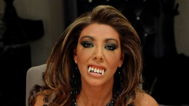 Fangs out ... Gina Liano vamps it up in The Real Housewives of Melbourne.