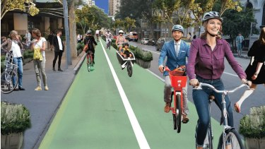 Bicycle Queensland's plan for Mary Street.