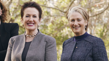 Former allies: Clover Moore (left) and Kerryn Phelps in 2016.