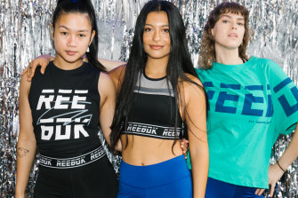 Asia Carino, Yasmin Suteja and Khayla Fowler decked out in the latest Reebok range.