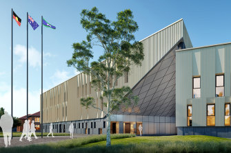 An artist's impression of Greater Shepparton Secondary College's new campus, set to open in 2022.