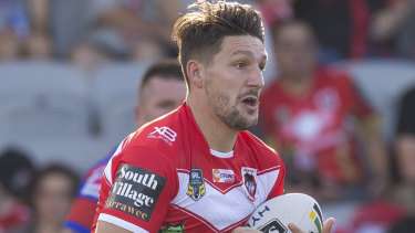 On fire: Gareth Widdop has hit top form for the Dragons this season.