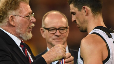 Scott Pendlebury was booed while receiving the Anzac Medal.