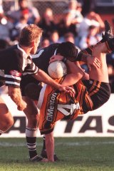 Andrew Leeds in his NRL playing days with Wests in the 90s.