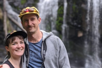 Gareth Ries and Vanessa Clearwater, who had to cut their caravan trip in WA short this week.