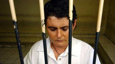 Renae Lawrence before a court appearance in Bali in 2005.