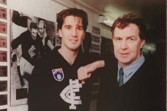 Stephen Silvagni with his father at Carlton.
