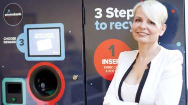 Influential entrepreneur Envirobank Recycling founder Narelle Anderson brings her company to Queensland as part of the 10 cents per container recycling program.