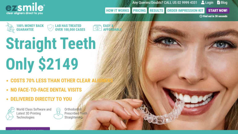 EZ Smile, which is based in Sydney, offers cut-price, over-the-internet clear aligners.