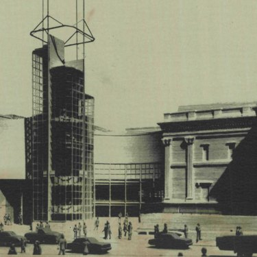 The proposed National Gallery extension that enraged Prince Charles.