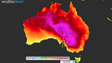 Hot westerly winds will sweep across NSW over the weekend, taking temperatures into the 40s.
