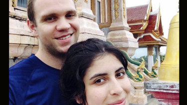 British PhD student Matthew Hedges, 31, pictured with his wife Daniela Tejada.