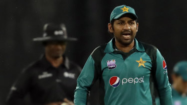Public apology: Pakistan captain Sarfraz Ahmed during the second ODI against South Africa in Pretoria.