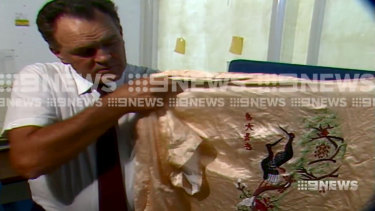 The kimono left behind by Bradley Edwards during his 1988 Huntingdale sex attack.