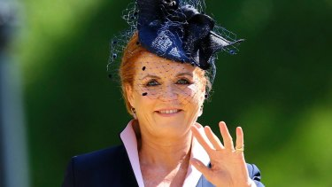 Sarah Ferguson at Prince Harry and Meghan Markle's wedding. The Duchess's novel, Her Heart for a Compass, is inspired by her great-great-aunt, Lady Margaret Montagu Douglas Scott, who spent time in the court of Queen Victoria.