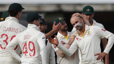 Earlier in the day Nathan Lyon equalled Dennis Lillee's Test tally of 355 wickets.