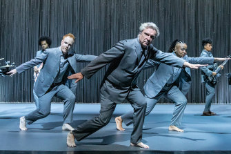 David Byrne brilliantly reinvents his Talking Heads songs for Broadway.
