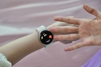 Samsung's Galaxy Watch4 can perform a body composition test on demand.