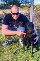 Anthony Mahr and his guide dog Yorric.